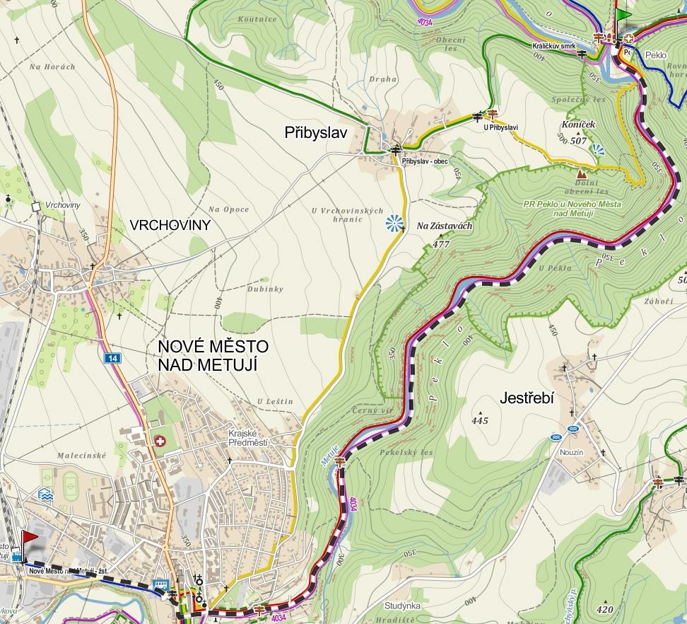 trasa Peklo - Nove Mesto