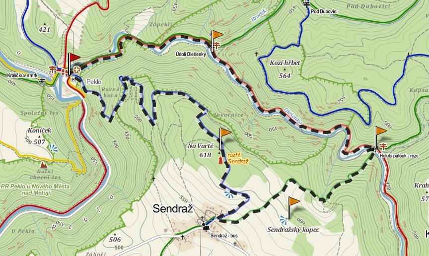 trasa Peklo - Sendraz