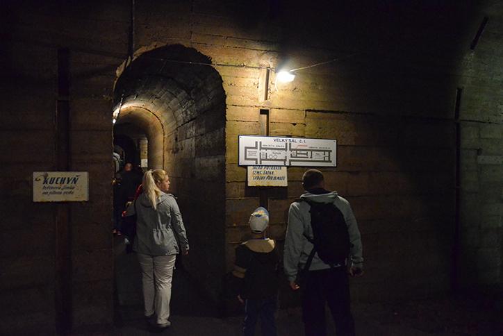 Podzemní tunel pevnosti